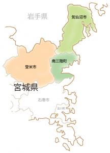 地図宮城県北